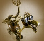 QUIRK - The Steampunk Baby Dragon - Reclaim2Fame - Robot Assemblage by Will Wagenaar